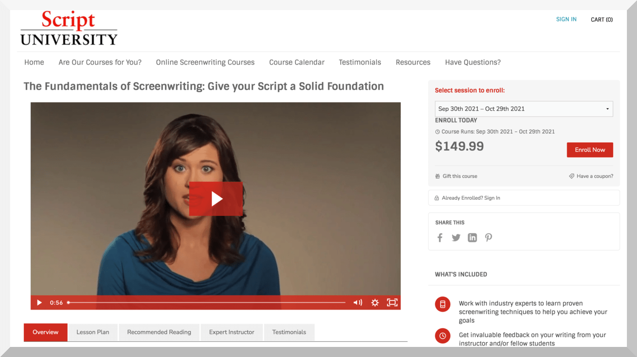 The Fundamentals of Screenwriting – Script University (Screenwriter University)