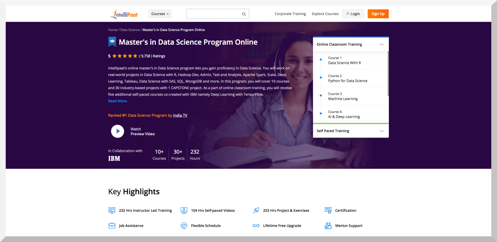 Data Science Course Online in Collaboration with IBM – Intellipat