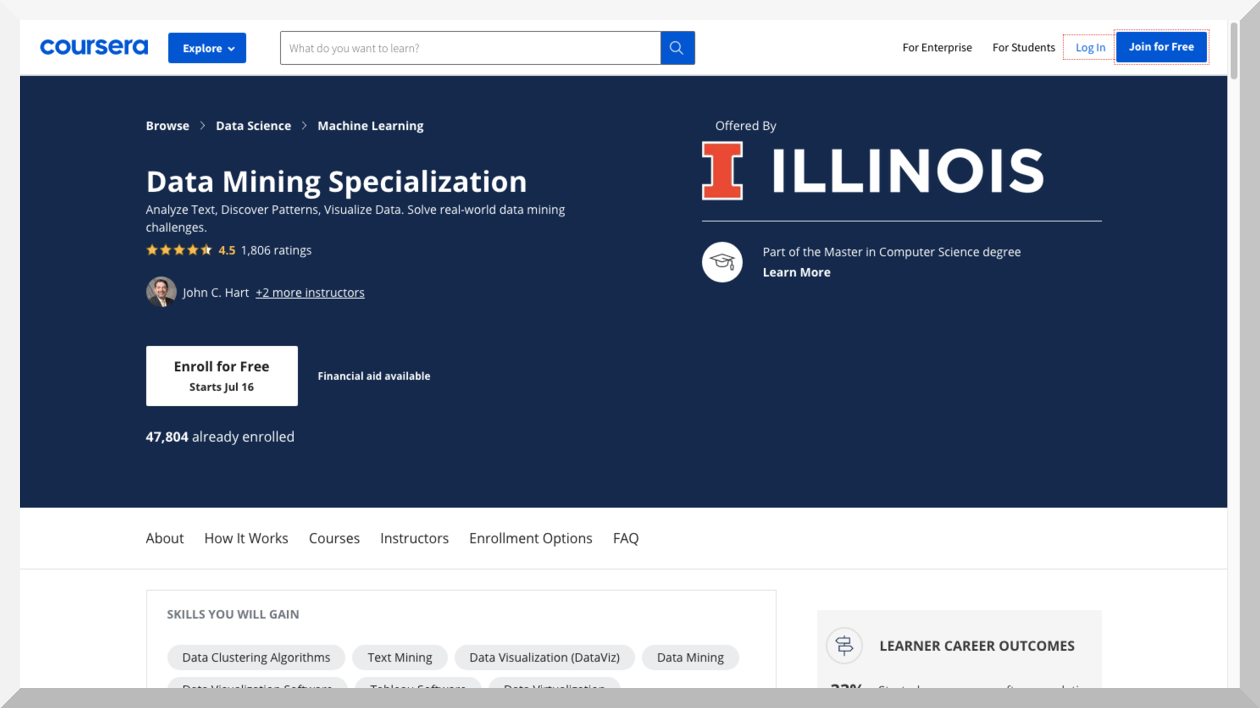 Data Mining Specialization