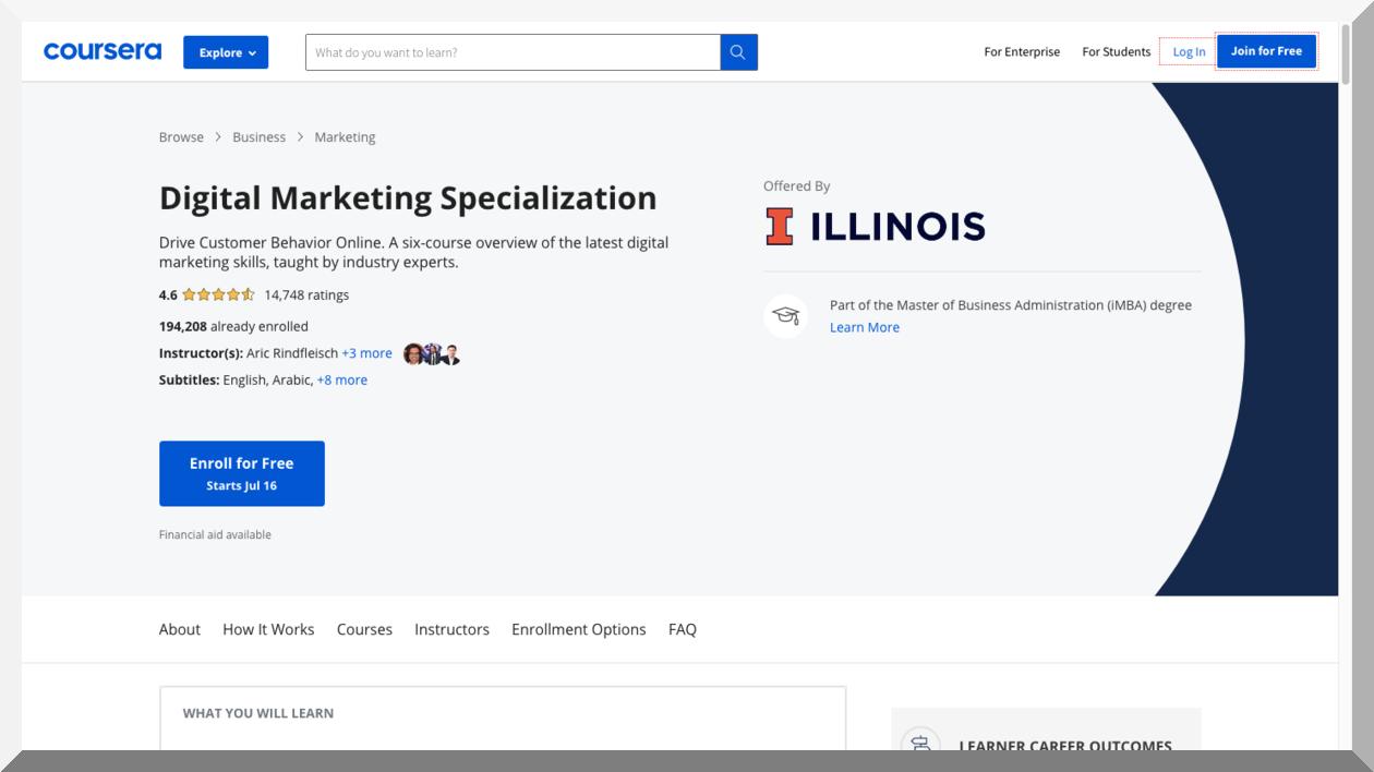 Digital Marketing Specialization