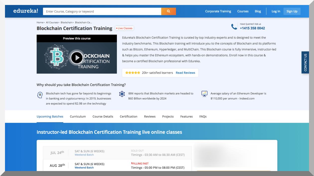 Ethereum Developer Certification Course – Edureka