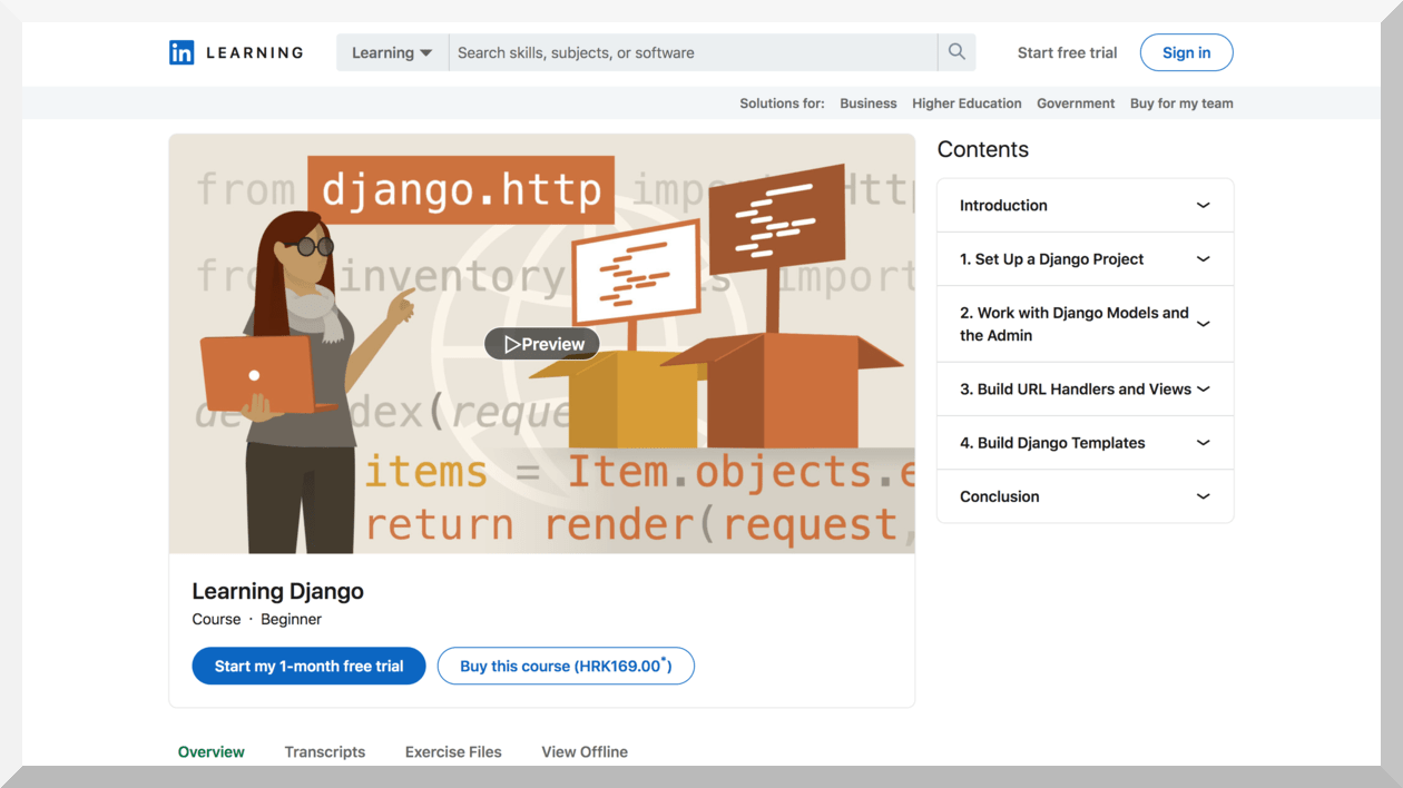 Learning Django – LinkedIn Learning