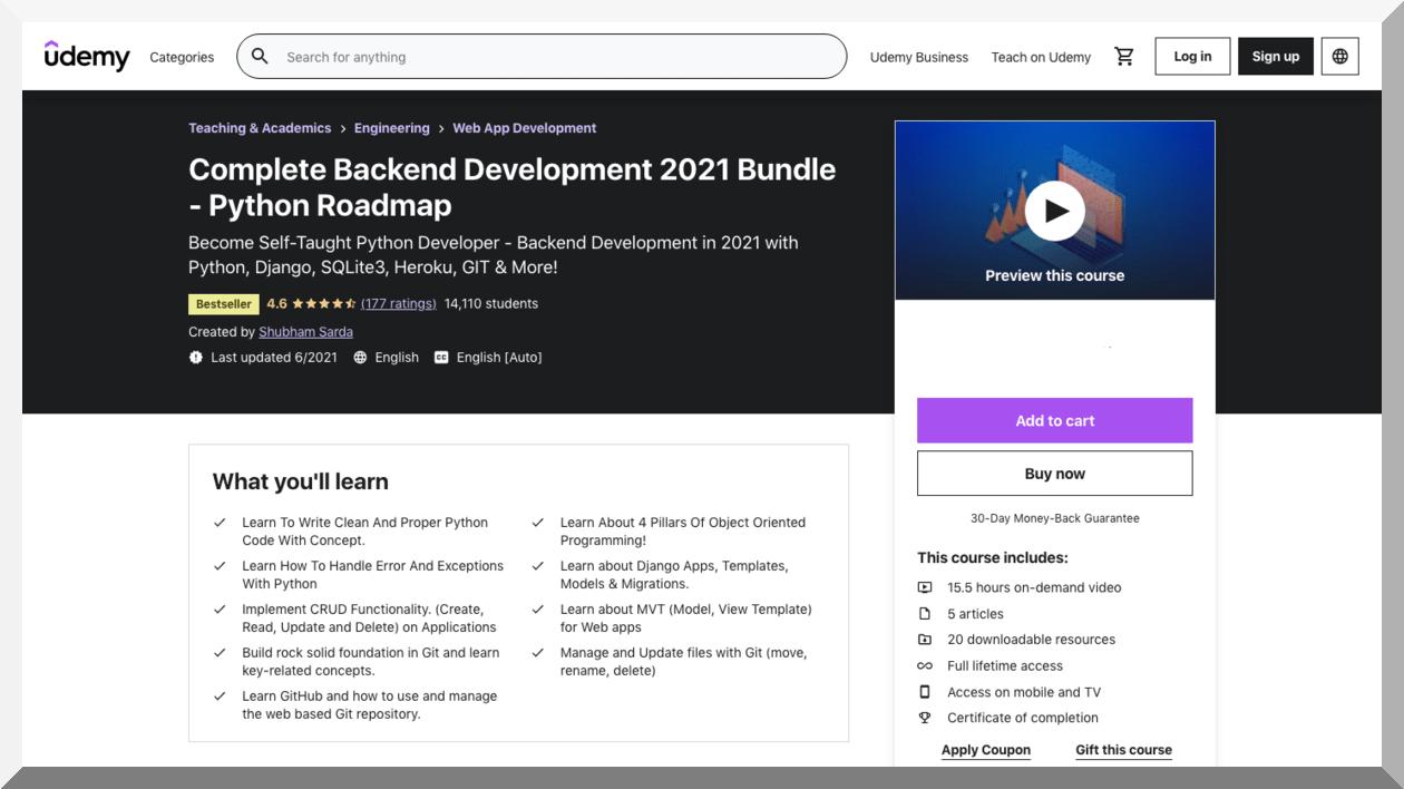 Complete Backend Development 2021 Bundle – Udemy