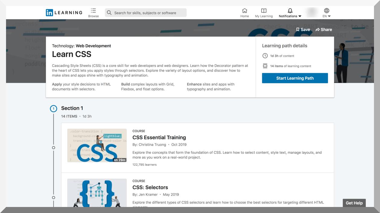 Learn CSS – LinkedIn Learning
