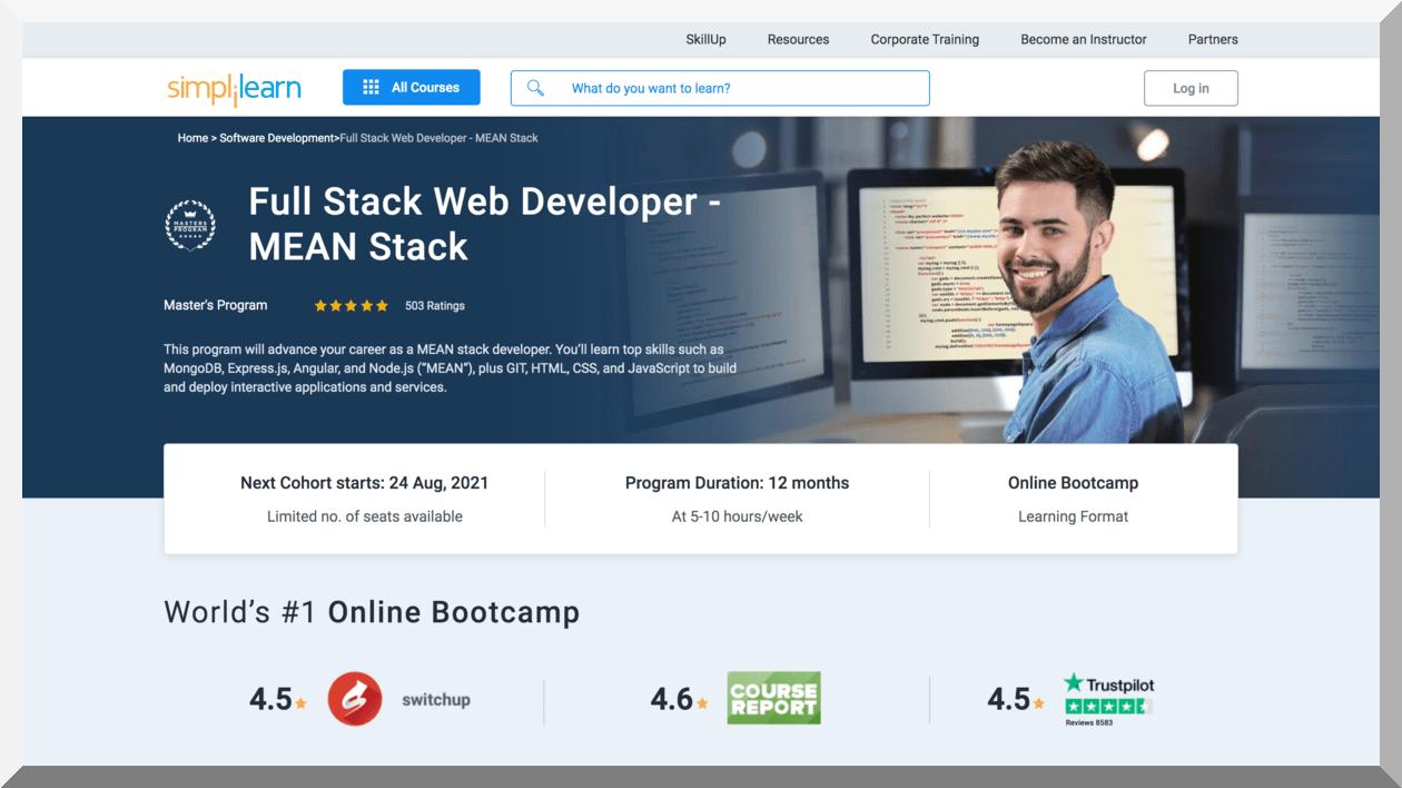 Master's Program on Full Stack Web Developer- MEAN Stack – Simplilearn