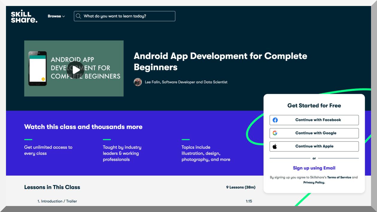 Android App Development for Complete Beginners – Skillshare