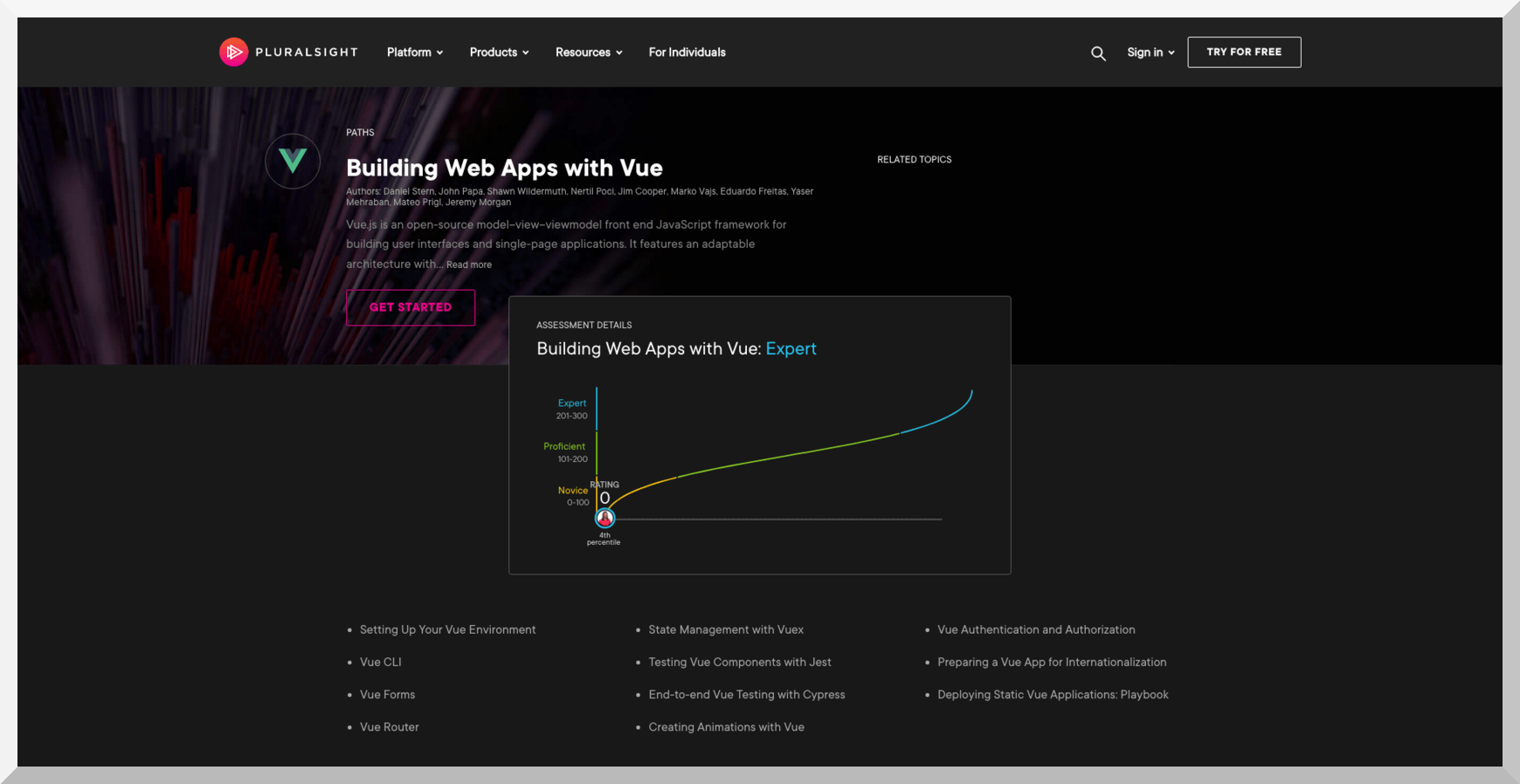 Building Web Apps with Vue – Pluralsight