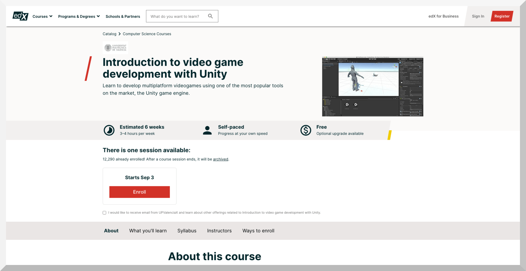 Introduction to Video Game Development with Unity – edX