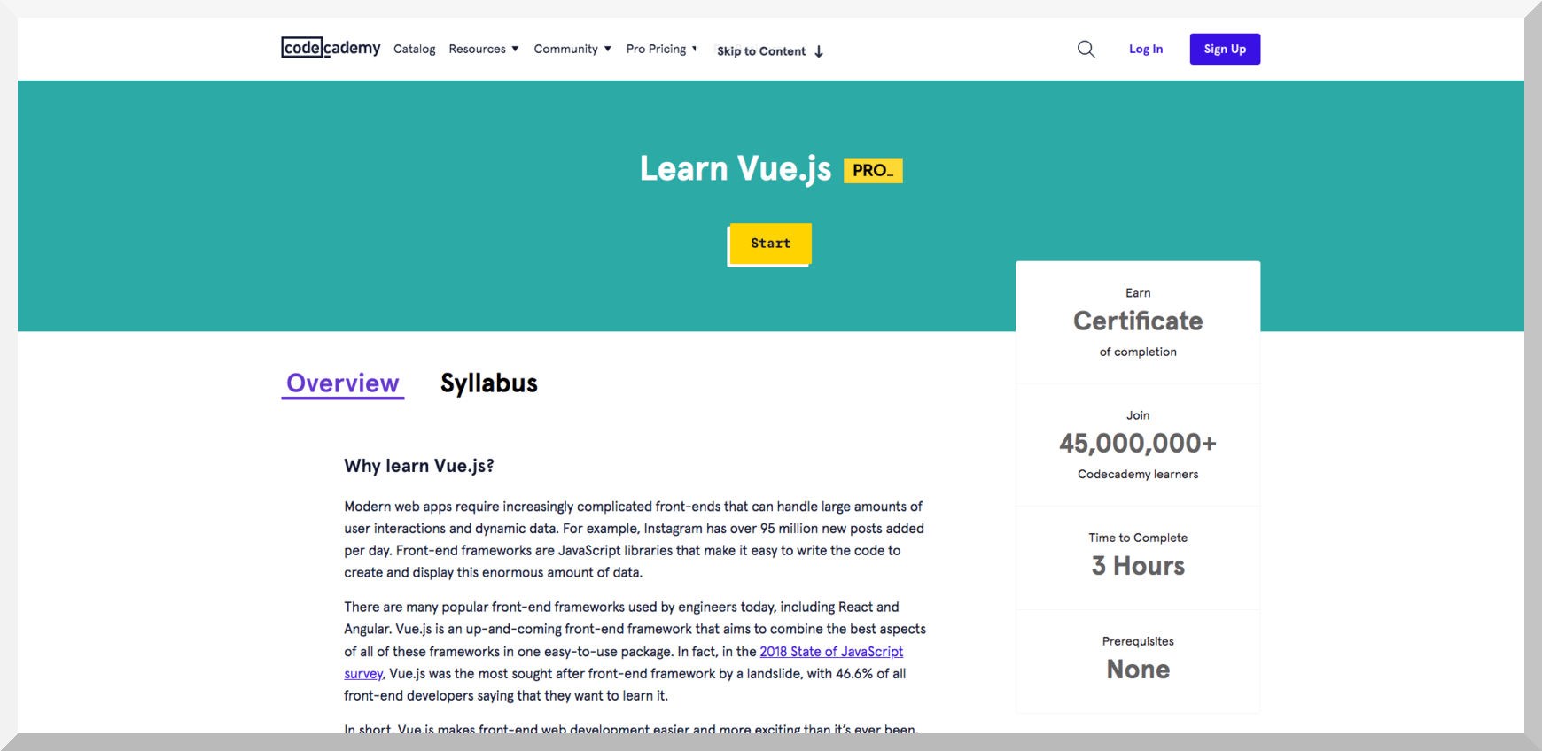 Learn Vue.js – Codecademy