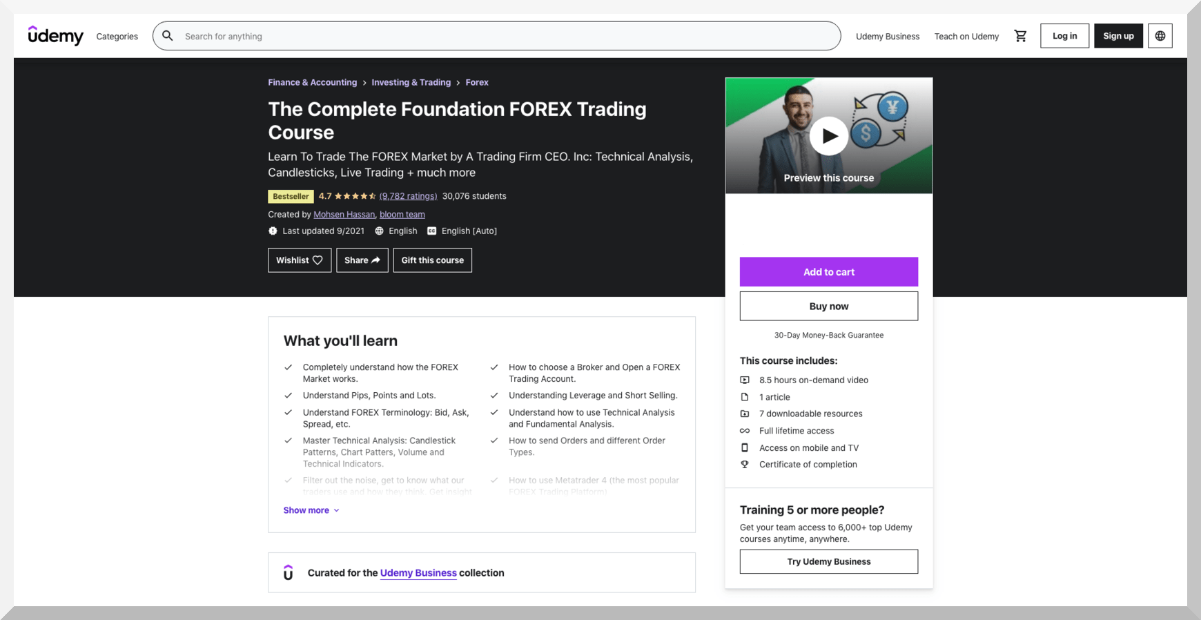 The Complete Foundation FOREX Trading Course – Udemy