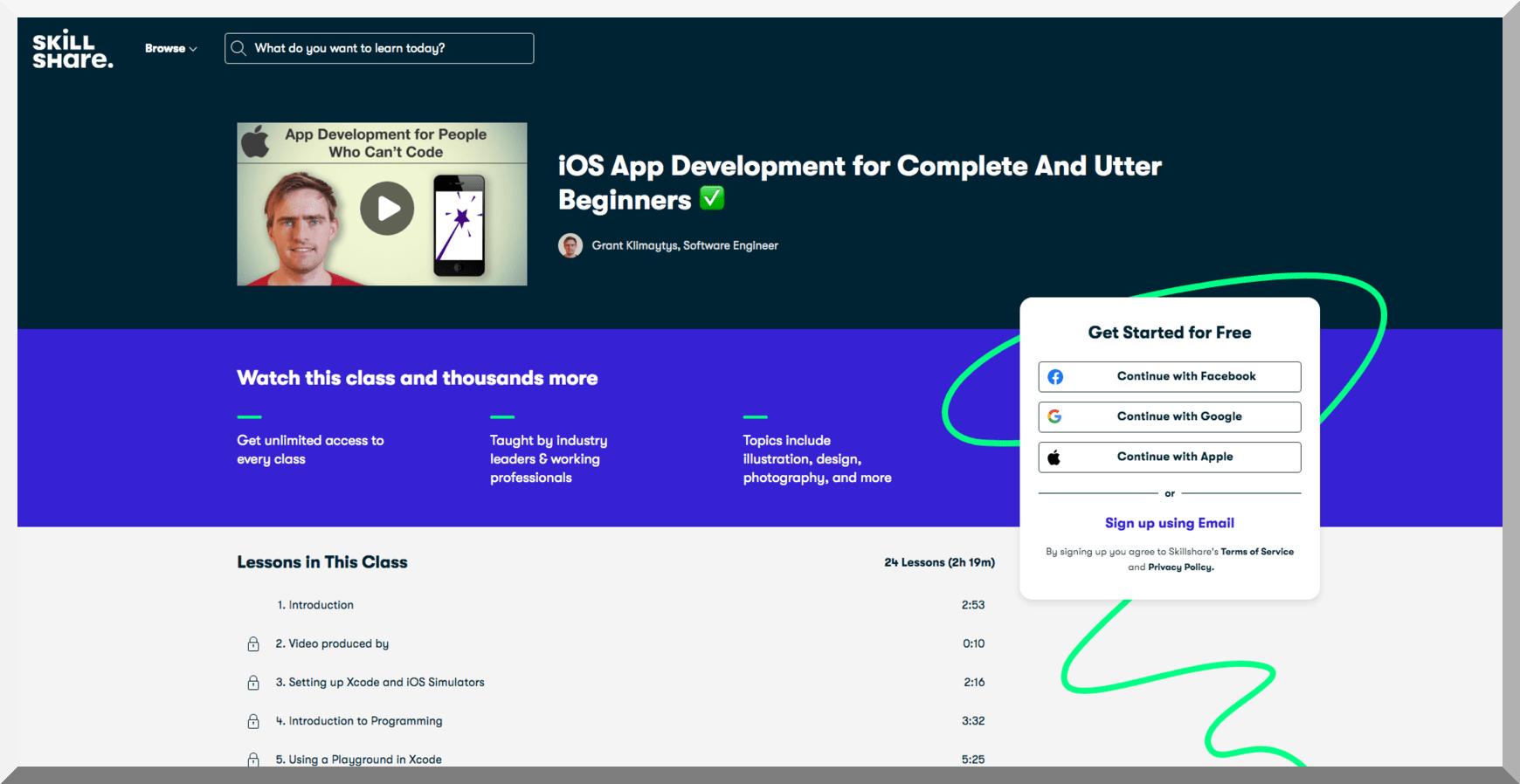 iOS App Development for Complete and Utter Beginners – Skillshare